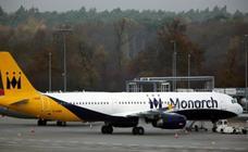 Doce aeropuertos españoles afectados por la quiebra de Monarch Airlines