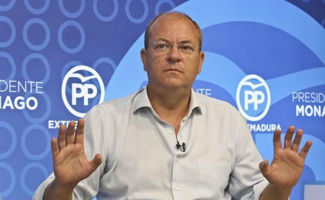 Monago tacha a Vara de «piernafloja» por reclamar diálogo