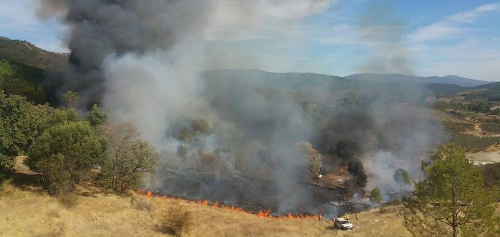 Estabilizado el incendio forestal declarado en Torrecilla de los Ángeles