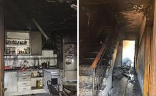 Una mujer herida en el incendio y explosión en una vivienda de Villafranca