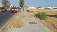 Un conductor de 82 años se lleva por delante cuatro árboles en Badajoz