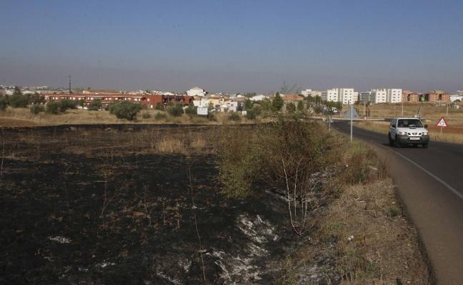 Una quema de poda provoca una espesa humadera