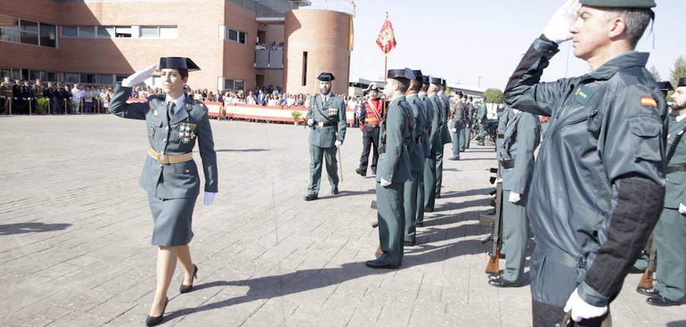 «No tenemos límites», dice la primera guardia civil en presidir el Día de la Patrona en Cáceres