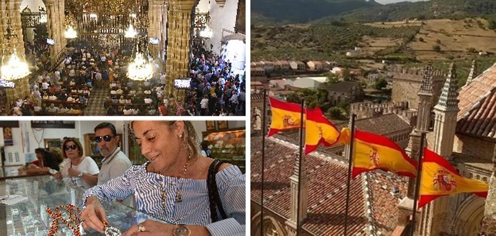 Guadalupe agota las banderas de España