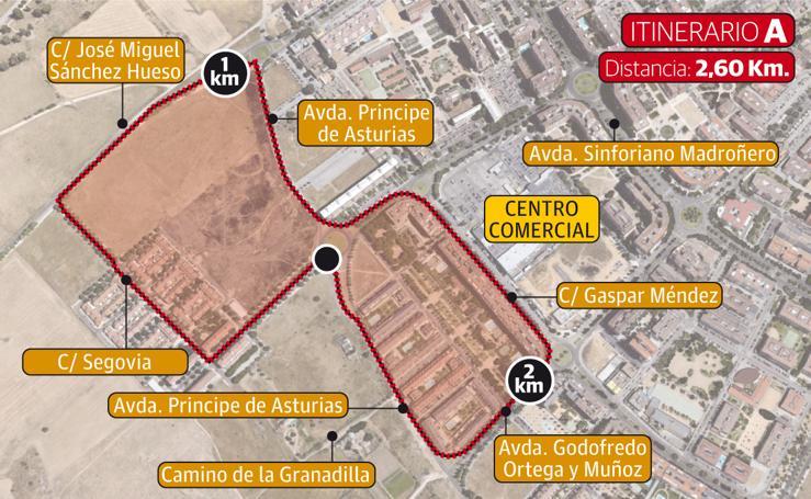 6 itinerarios para las pruebas deportivas que se disputen en Badajoz