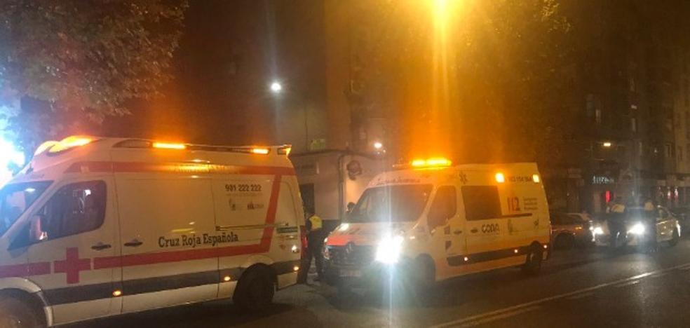 Dos jóvenes heridos en el choque de una moto y un coche en Ricardo Carapeto