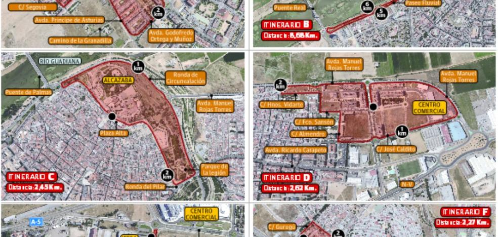 El Ayuntamiento de Badajoz limita a seis rutas las pruebas deportivas