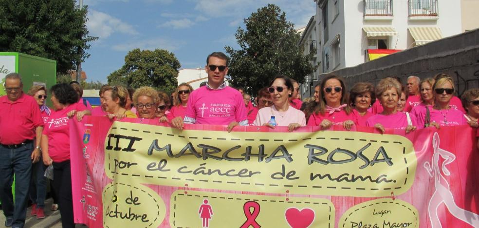 III marcha rosa en Jaraíz de la Vera