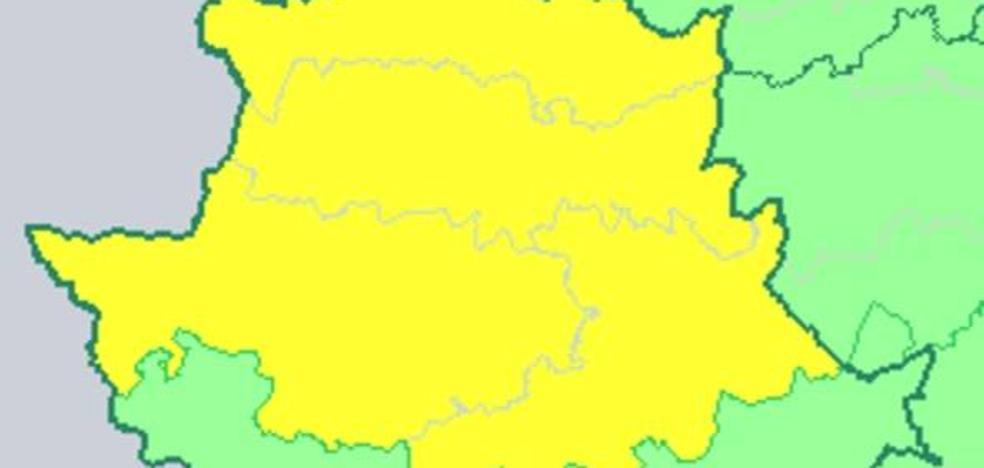 Amplían la alerta amarilla por lluvia en Cáceres hasta este miércoles