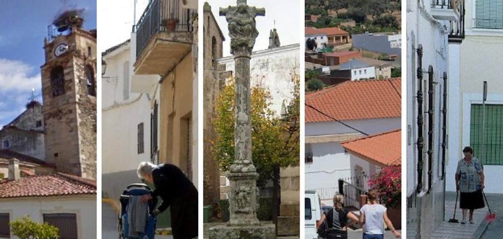Siete localidades de Extremadura, entre las diez más pobres del país