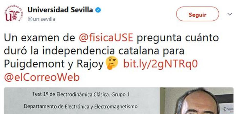 El 'procés' se cuela en un examen sobre la teoría de la relatividad de la Universidad de Sevilla
