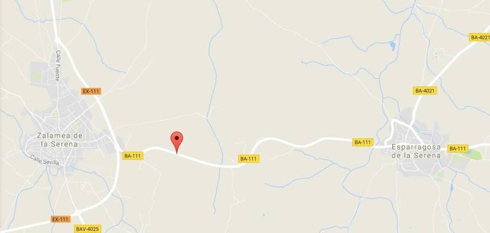 Un hombre de 69 años, herido en un accidente cerca de Zalamea