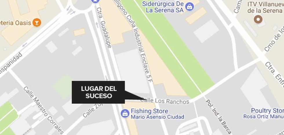 Herido un hombre de 50 años en un atropello en Villanueva