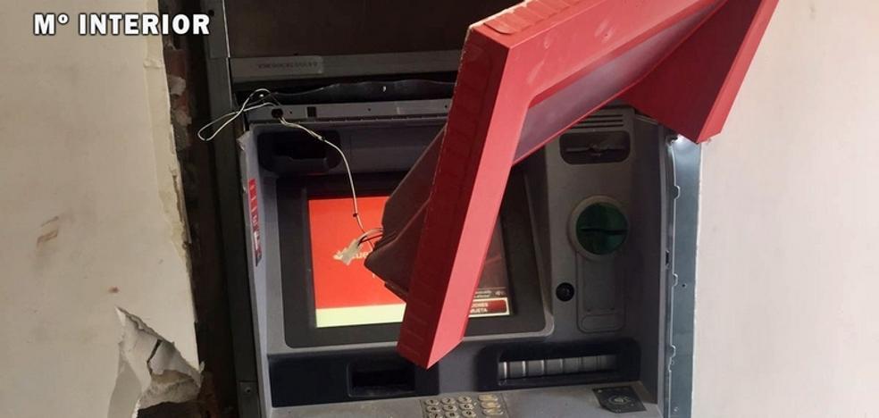 Detenido un vecino de Llerena por reventar dos cajeros automáticos
