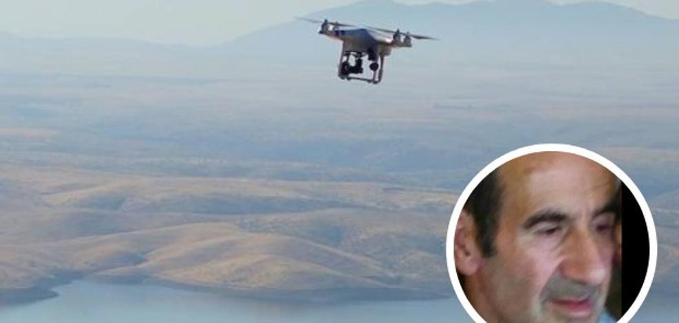 El dron de emergencias de Plasencia se une a la búsqueda del desaparecido en Losar