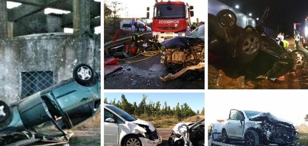 La carretera de los 10 accidentes y 6 muertos