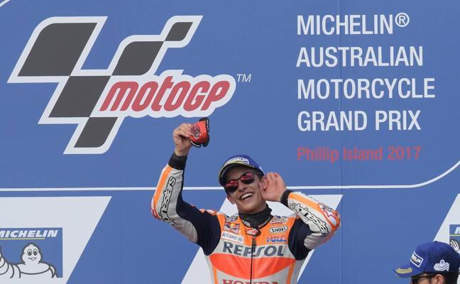 El sprint de Márquez decide el mejor MotoGP de la historia