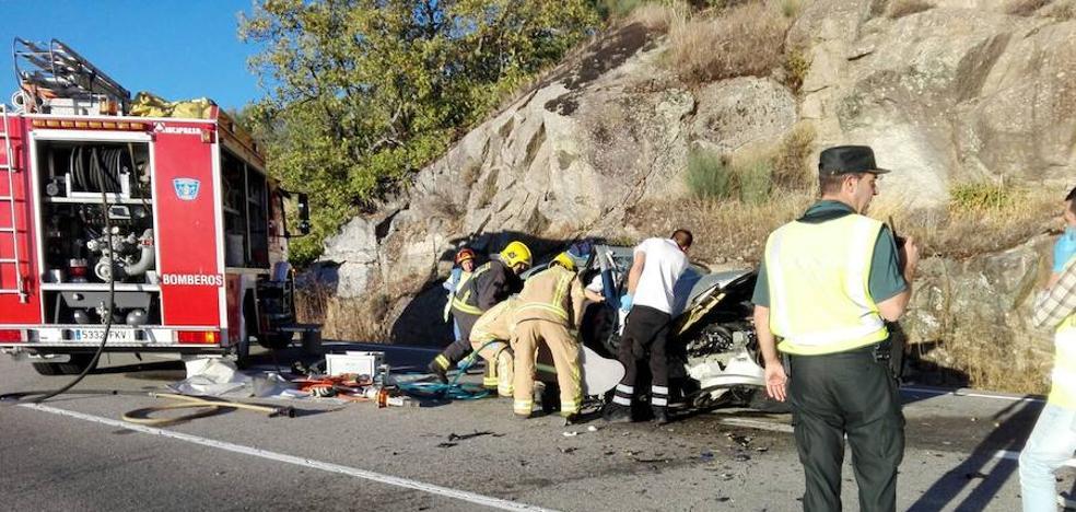 Dos heridos en Jarandilla de la Vera al salirse de la vía el vehículo en el que viajaban