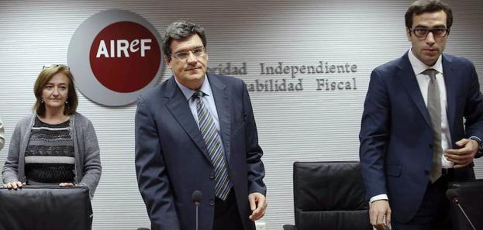 La Airef recomienda a Extremadura «prudencia» en los presupuestos de 2018