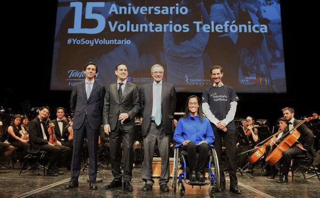 Juan Diego Flórez pone música a los 15 años de 'voluntarios telefónica' en el Teatro Real