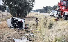 La Guardia Civil investiga las causas del accidente mortal de la carretera de Valverde