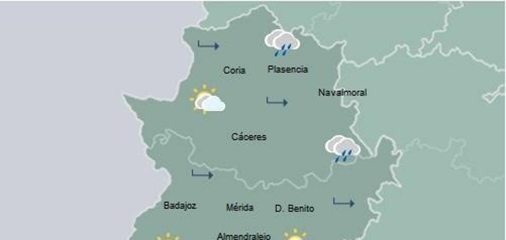 Seis municipios cacereños, entre los diez más lluviosos en las últimas horas