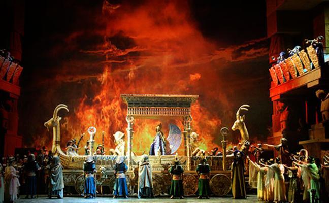 Proyección de la ópera 'Aída' en Cáceres, este jueves