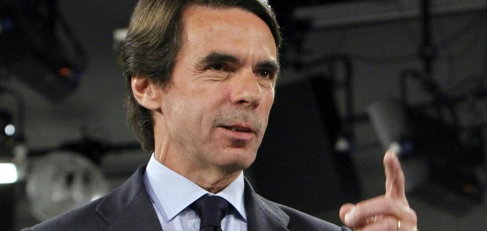 Aznar dice que, si ganan los independentistas, Cataluña quedará sumida en «el imperio de la anarquía»
