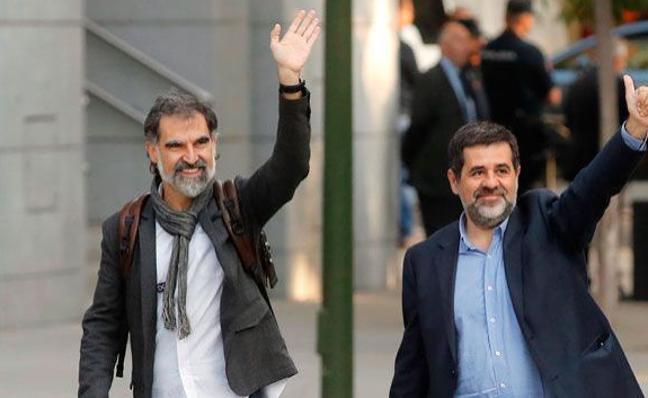 'Los Jordis' seguirán en prisión por riesgo de fuga
