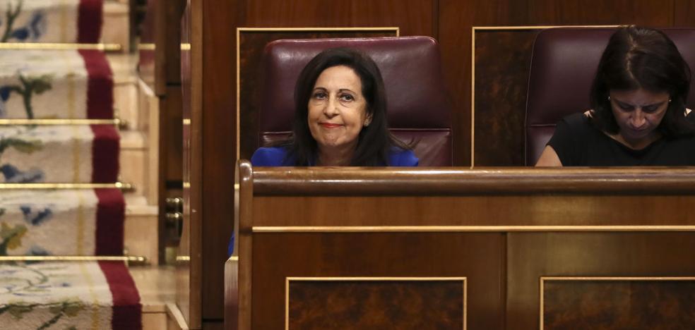 Margarita Robles tiene un lapsus y ve en Cataluña «la peor crisis de la dictadura»