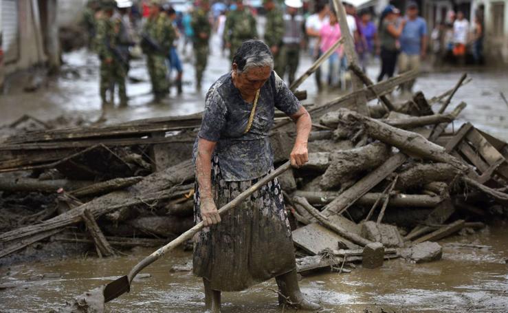 Cuatro muertos y 18 desaparecidos por riada en suroeste de Colombia
