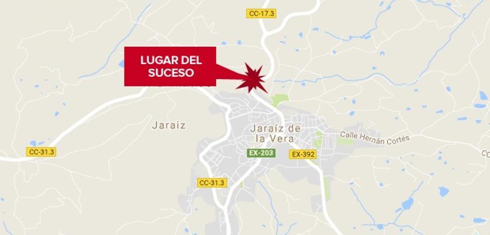 Herido grave un hombre de 67 años tras ser atropellado en Jaraíz de la Vera