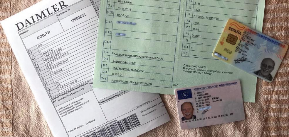 Tres documentos hay que llevar en el coche: carné, permiso de circulación e ITV