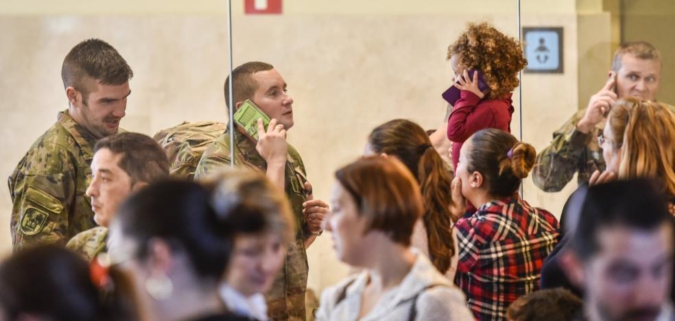 Los primeros 265 militares de la Brigada 'Extremadura XI' parten al Líbano
