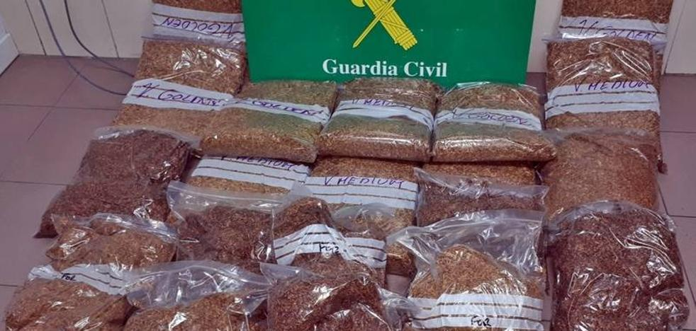 Interceptados en Badajoz 20 kilos de tabaco destinado a la venta ilegal