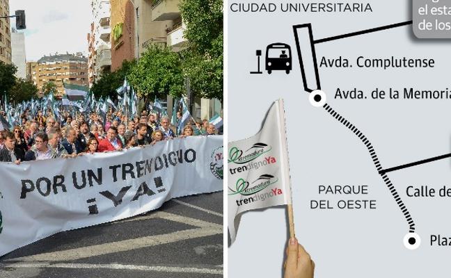 15.000 extremeños irán a Madrid en 320 autobuses a exigir un tren digno