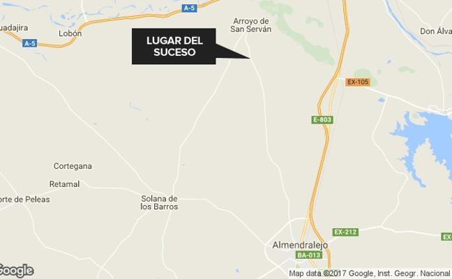 Una fallecida y un herido leve en un accidente cerca de Arroyo de San Serván