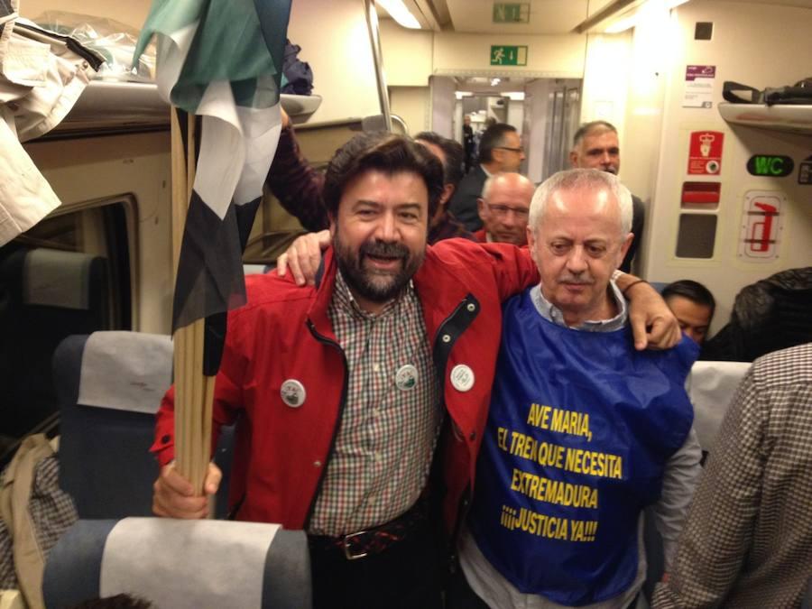 Comienza el viaje en tren hacia Madrid