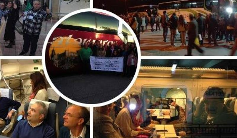 Extremadura, unida en Madrid en la marcha que reivindica un tren digno