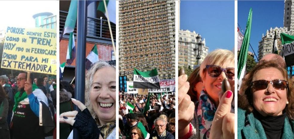 Miles de extremeños alzan la voz en Madrid por el #trendignoya