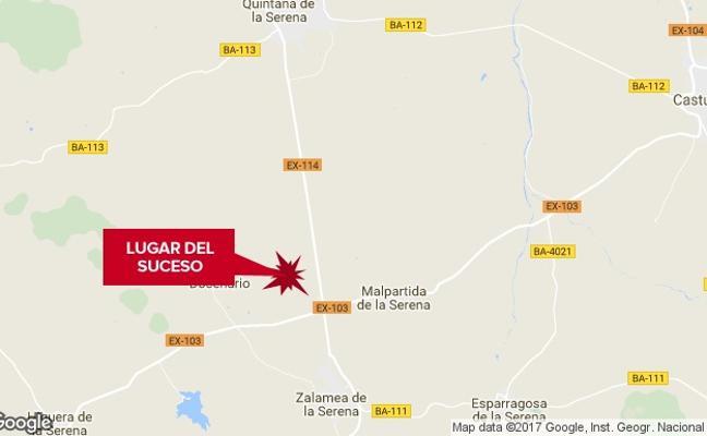 Tres heridos en una salida de vía en Zalamea