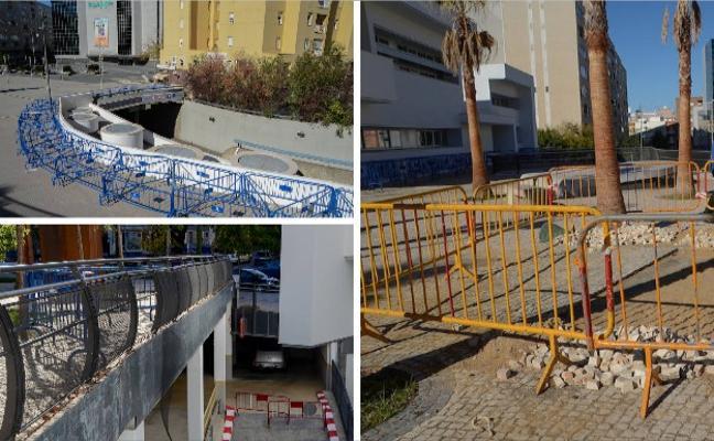 La plaza de Conquistadores, entre el vandalismo y las vallas municipales