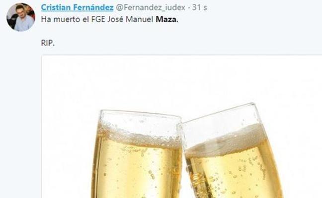 Un dirigente de Podemos en Cataluña celebra en Twitter la muerte de Maza