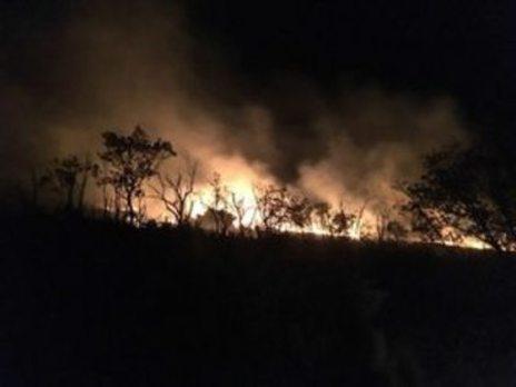 Bomberos del Infoex apagan un fuego en Hervás