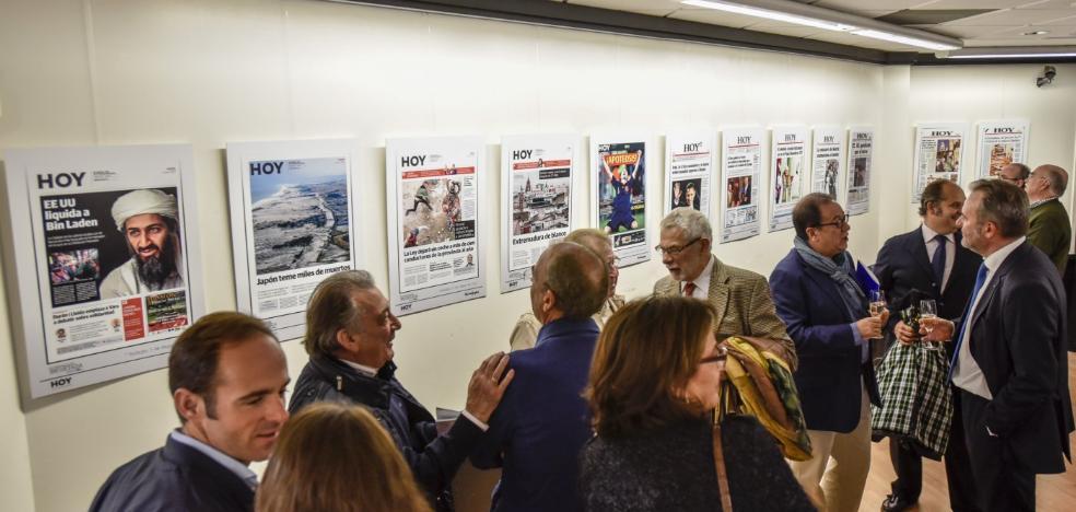 La exposición de portadas de HOY se podrá ver hasta el día 30 de este mes