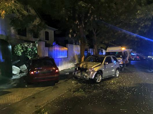 Aparatoso accidente en Las Vaguadas