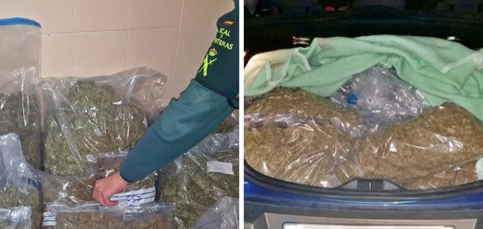 Detenido en Mérida con 15 kilos de marihuana en el maletero