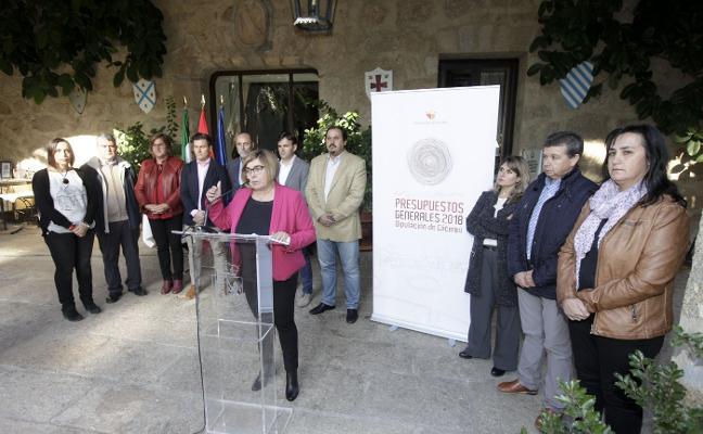 La Diputación cacereña diseña unos presupuestos al alza con dos millones para la Casa Pereros