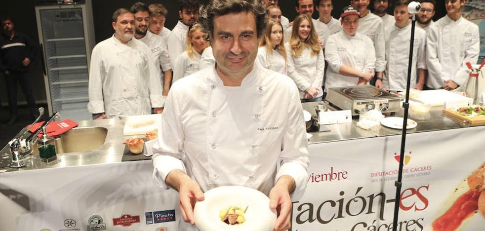La gala Tentación-es llena el Gran Teatro para ver cocinar a Pepe Rodríguez y Natalia Jiménez