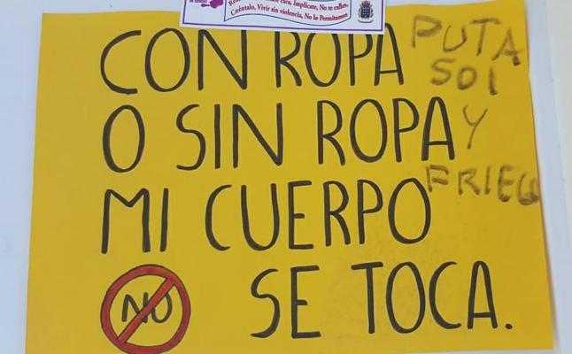 La Guardia Civil investiga pintadas machistas en Orellana la Vieja